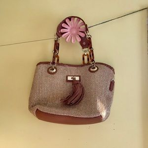 Aldo Straw Weave Handbag